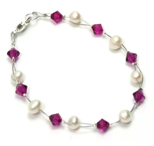 Bridesmaid Jewellery Fuchsia Bracelet