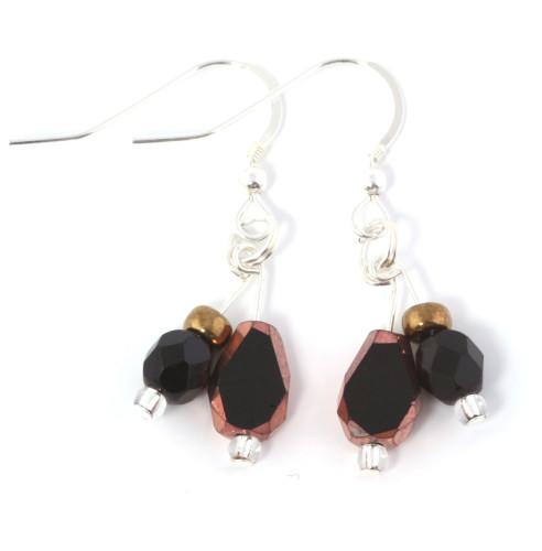 Fashion Jewellery Black Velvet Earrings