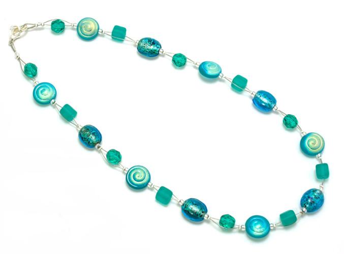 Fashion Jewellery Aqua Speckle Necklace