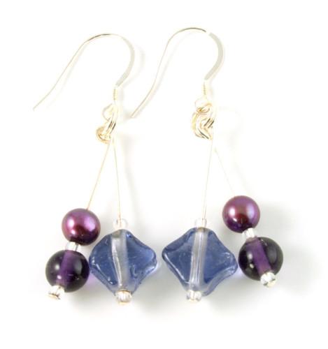 Fashion Jewellery Mulled Wine Earrings