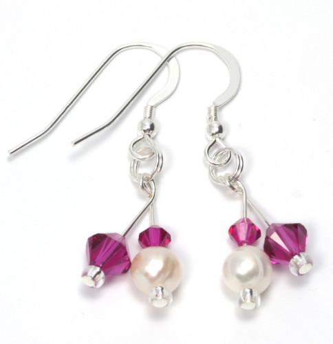 Bridesmaid Jewellery Fuchsia Earrings