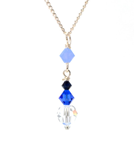 Bridesmaid Jewellery Truly Blue Pendant Necklace