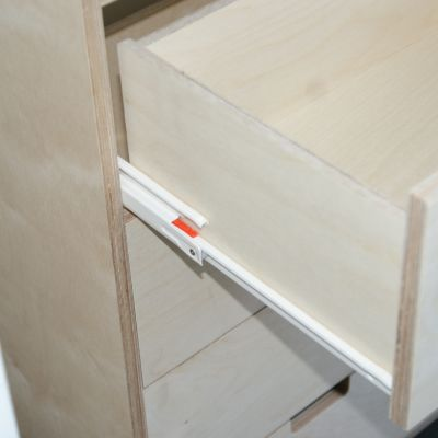 Birch ply drawer unit with Blum standard runner