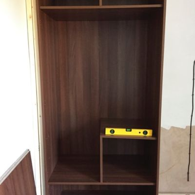Cabinet on a ladder plinth single unit
