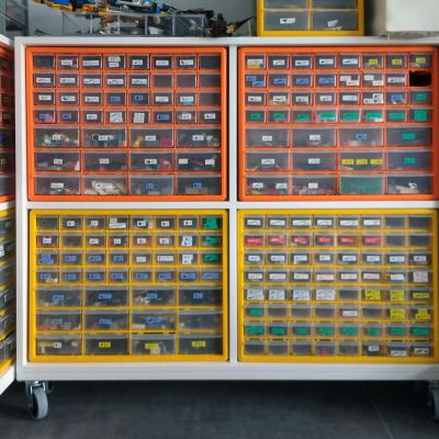 Cabinet for Lego brick storage