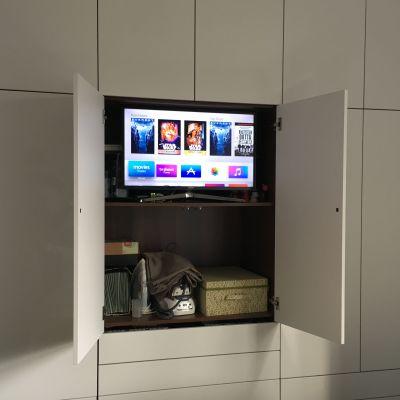 TV space in centre of bedroom wardrobe