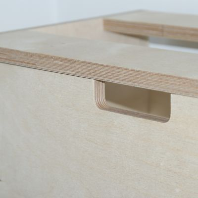 Routed handle in Birch Ply drawer