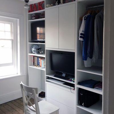 Teenager's bedroom storage