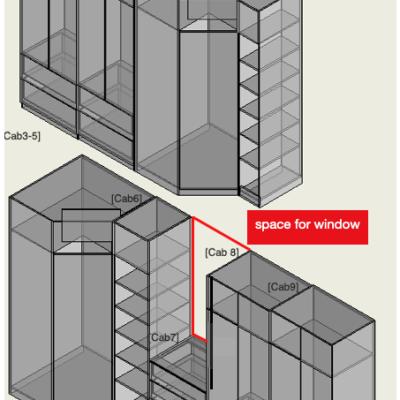 walk in wardrobe diagram