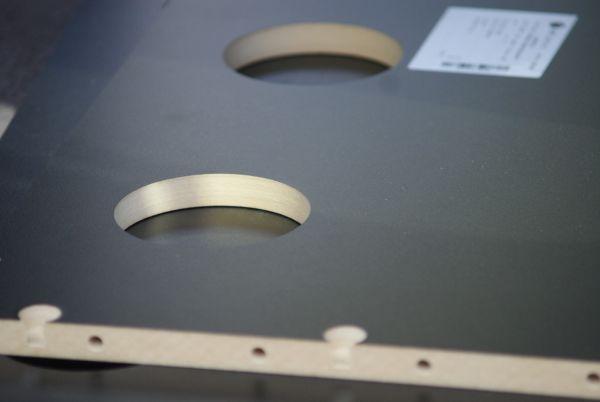 The CNC machining process produces crisp cutouts