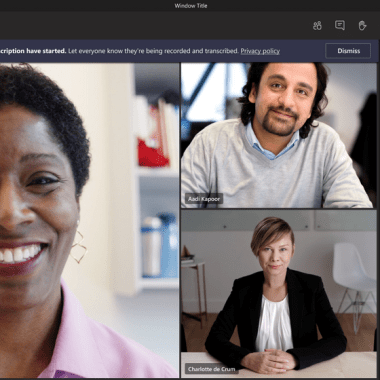 Built With AI, Live Transcription Services Come To Videoconferencing Software