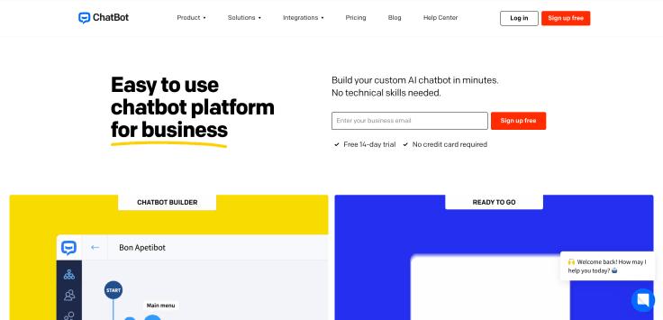 Chat automation platform (chatbot) - ChatBot.com