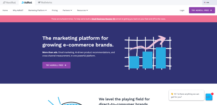 Paid campaigns automation platform for ecommerce - AdRoll