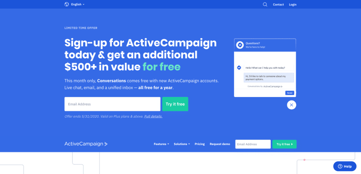 Full funnel automation platform - ActiveCampaign