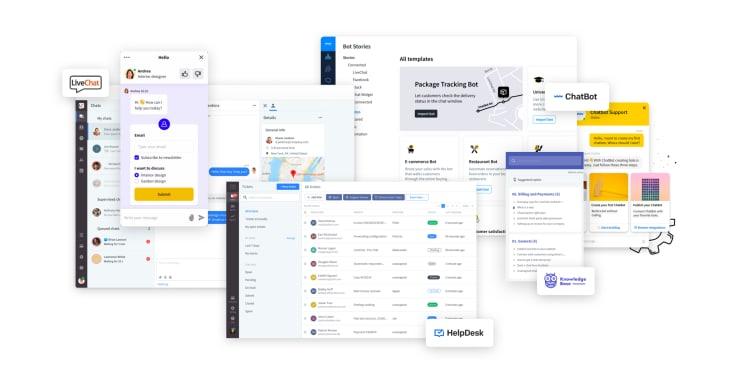 LiveChat ChatBot HelpDesk KnowledgeBase rebranding