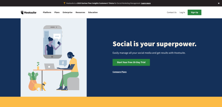 Social Media automation platform - Hootsuite