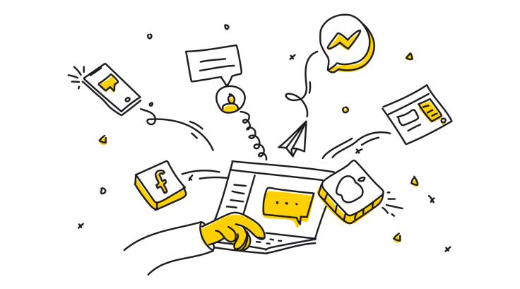 Communication channels illustration