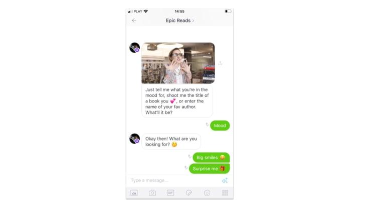 Epic reads chatbot on kik