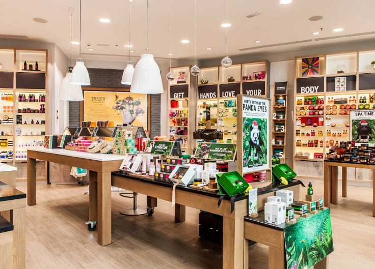 Body shop as an example of maintaining consistent offline and online customer engagement