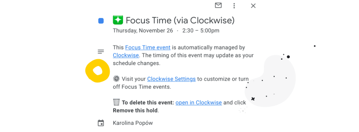 Scheduling virtual meetings with Clockwise