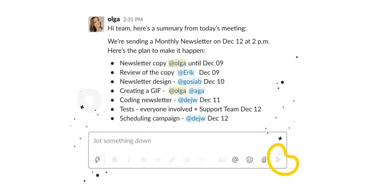 Meeting minutes - summary