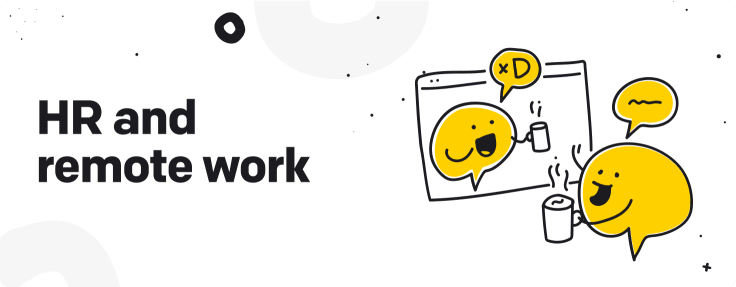 HR and remote work graphic