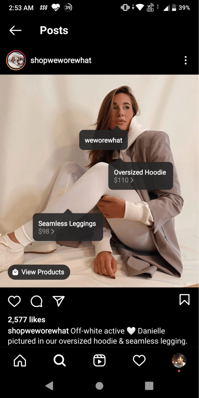 Instagram branded content