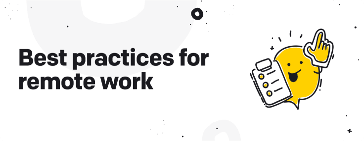 best practices for remote work graphic