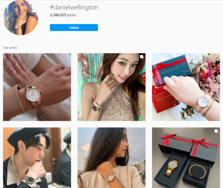 branded content - using hashtags on Instagram