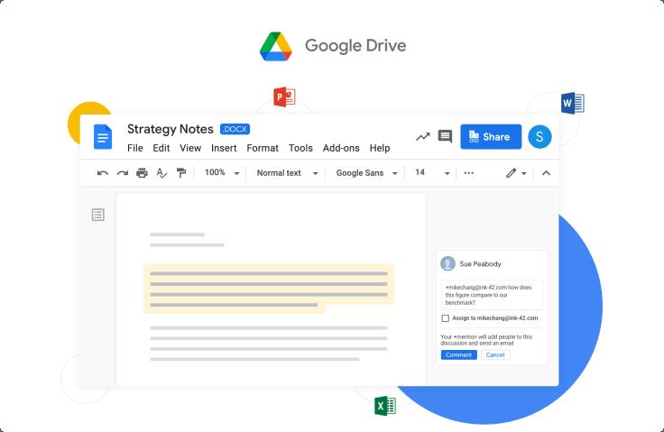 Google drive remote work