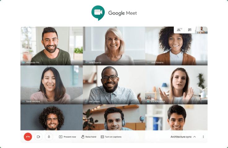Google Meet remote work