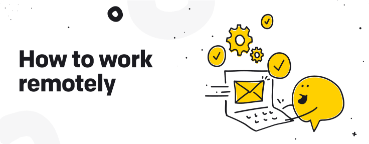 how to work remotely graphic
