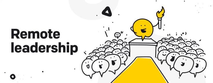 remote leadership graphic
