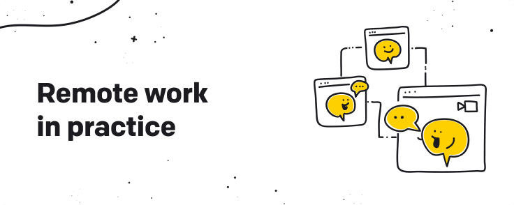 remote work in practice graphic