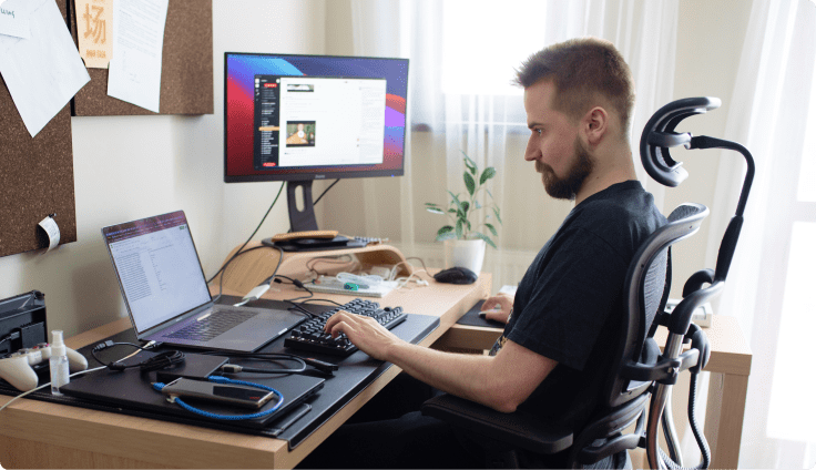 working remotely Livechat