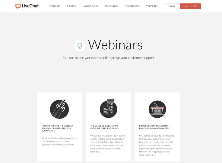 Make sure webinars are among your marketing collateral ideas.