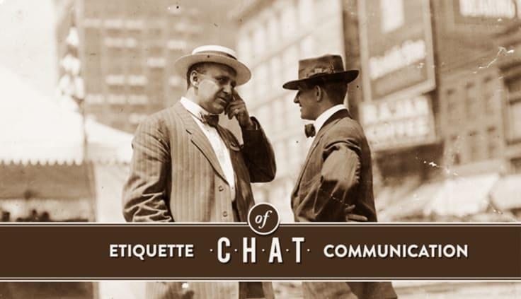 LiveChat etiquette.