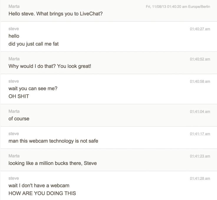 Chat transcription steve