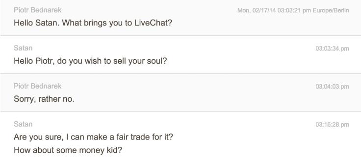 Chat transfer satan