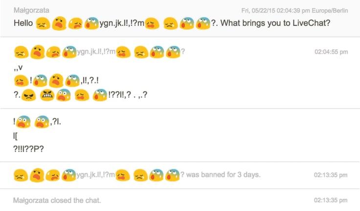 Transcription chat ban