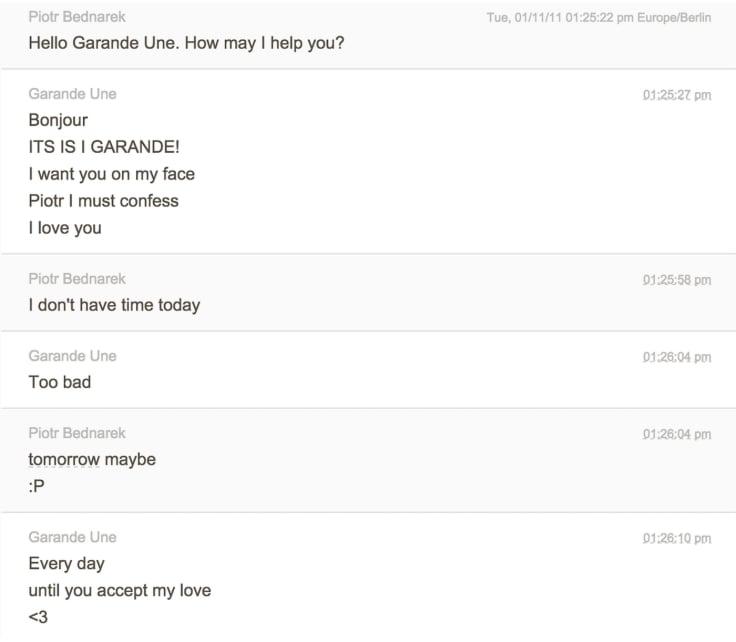 Transcription chat garande