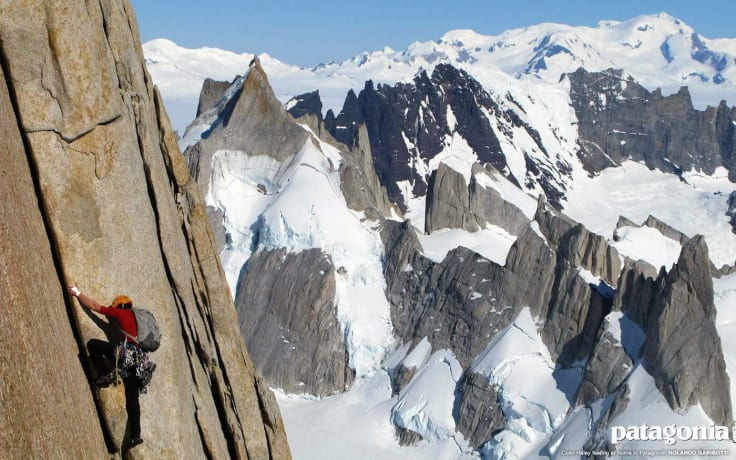 Patagonia banner mountains cause marketing
