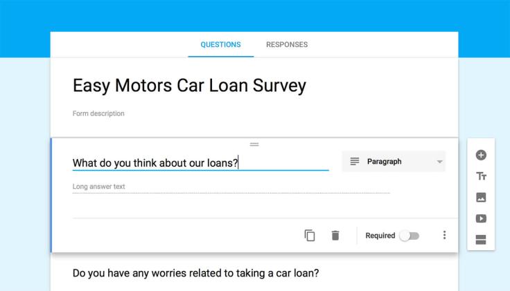 Using Google forms for surveys