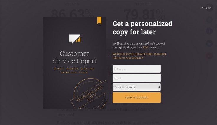 Pop-up form can be used in lead generation strategies
