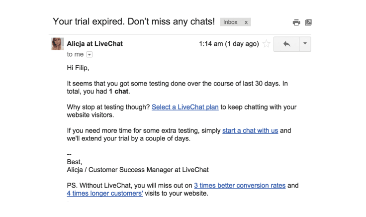 LiveChat Take care of your customer