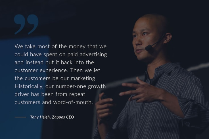 Tony Hsieh Word of Mouth Quote