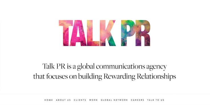 Talk PR website
