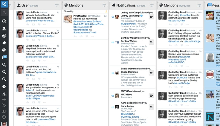 Free tools like Tweetdeck allow you to schedule social media posts