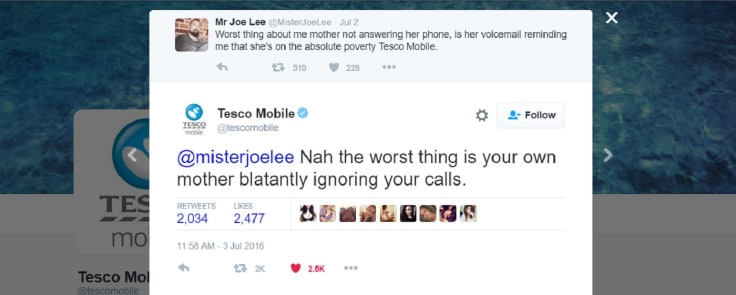 Tesco mobile twitter