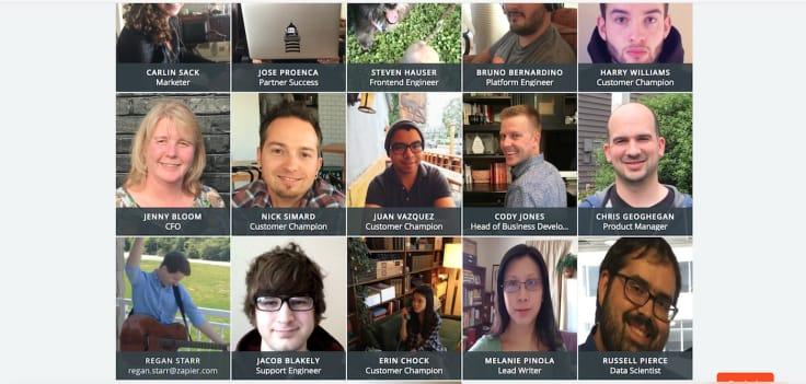 zapier team page